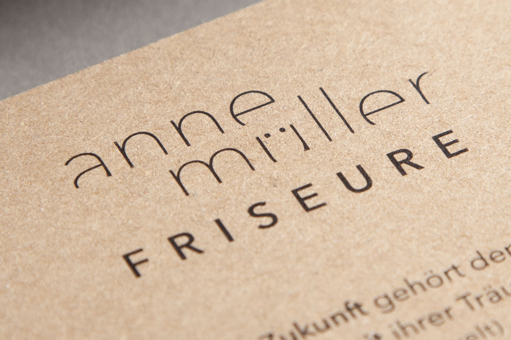 Details der Geschäftsausstattung Anne Müller Friseure