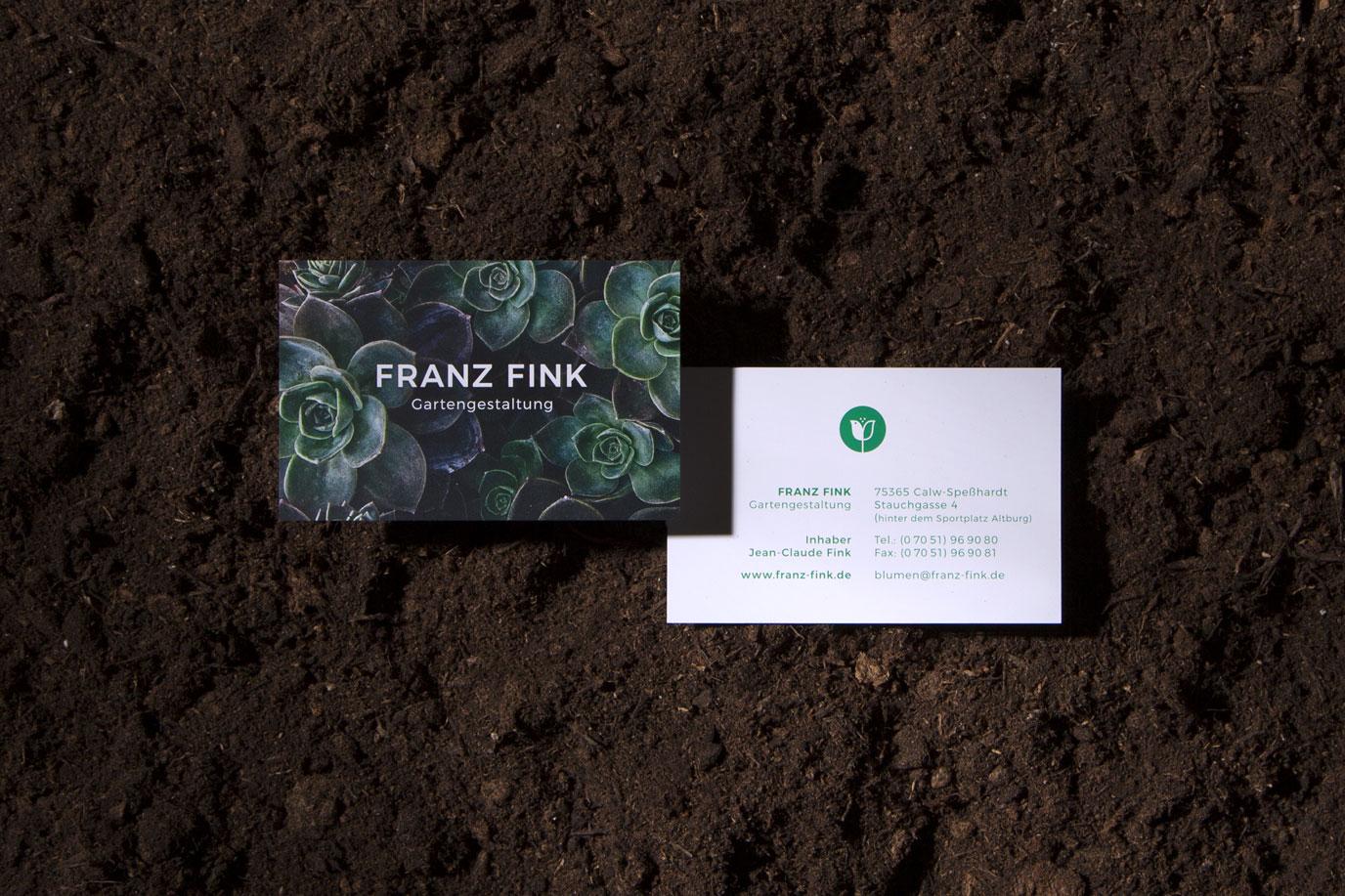 Visitenkarte Franz Fink Gartengestaltung