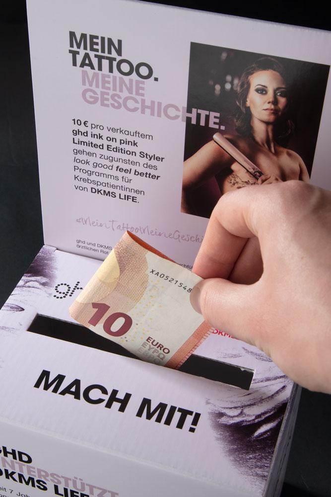 ghd Spendenbox DKMS
