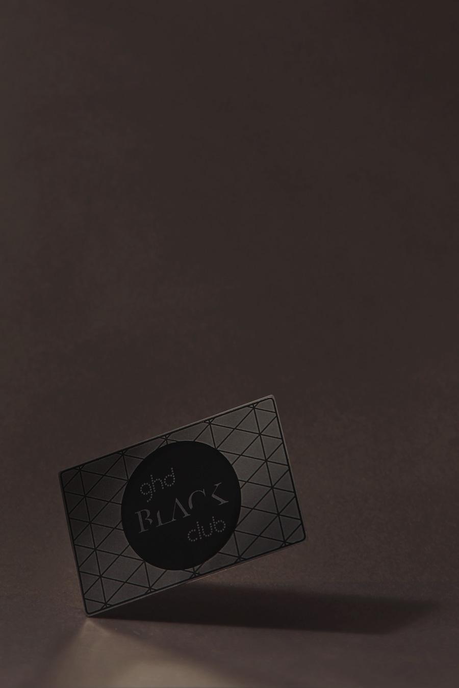 Hochwertige ghd Visitenkarte in schwarz