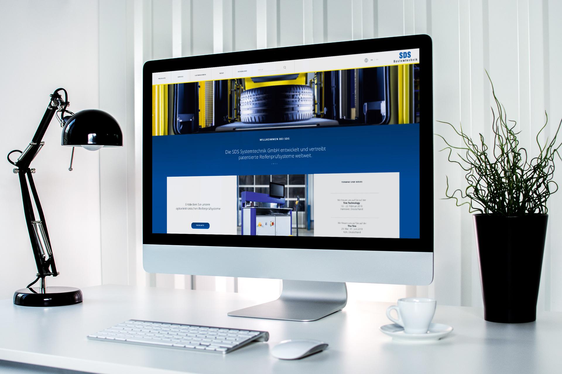 Screen der Website SDS Systemtechnik