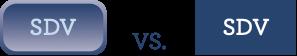 Vergleich Flat Design Button und Glowing Button