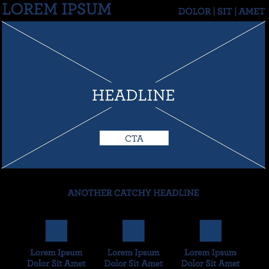 Klassisches Layout einer Website